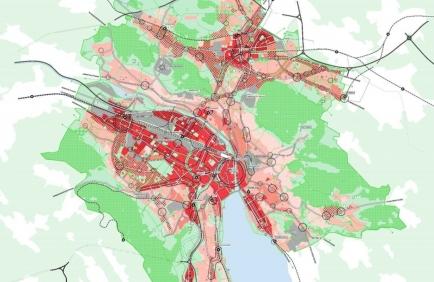 Konzeptkarte Stadt Zürich 2040